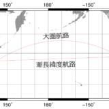 漸長緯度航路と大圏航路