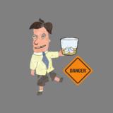 コップ一杯のウィスキーをキュッと飲んで、シャキッと変身??