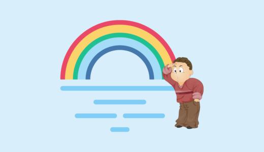 海上に現れた虹を何度数えても6色です